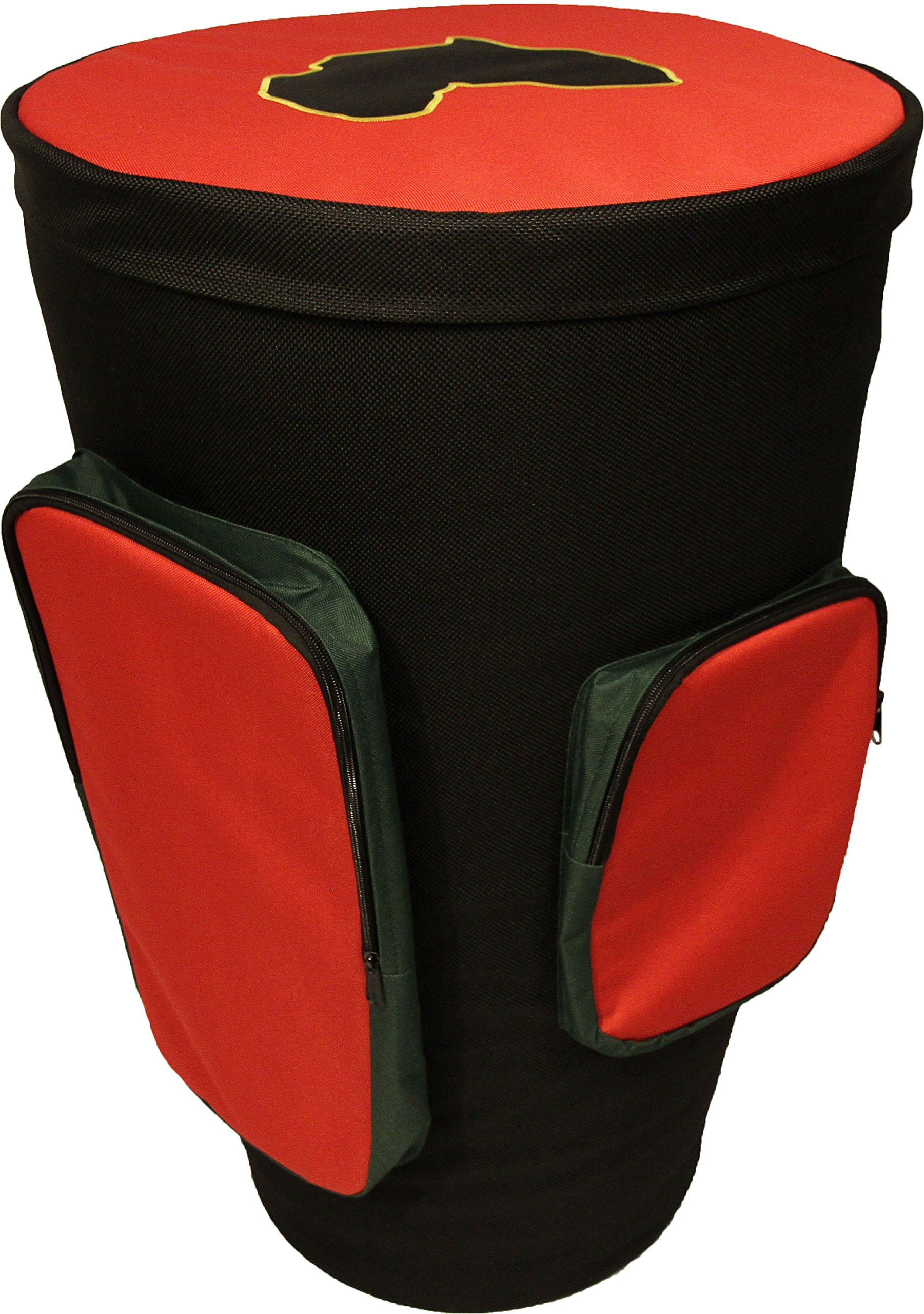 Rhythm Traders Professional Master Djembe Drum Bag - Padded Deluxe Carrying Case - 12.5'' to 14''
