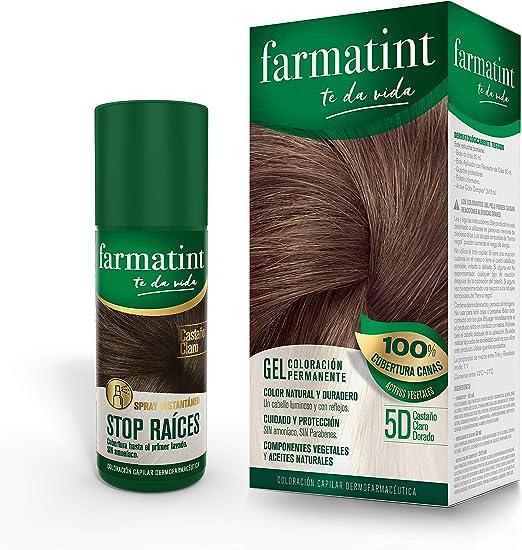 Farmatint Tinte permanente 5D Castaño Claro Dorado 135 ml + ...