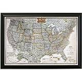 Amazoncom Personalized US Traveler Map Posters Prints - Personalized us travel map