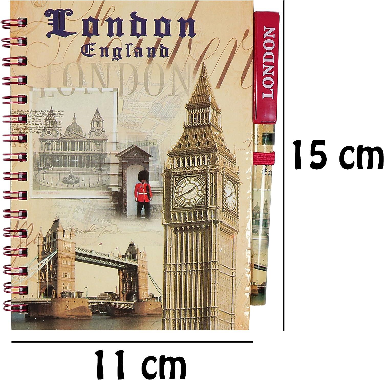 London Souvenir A6 Notebook With Pen School Office Home Gear Gift Size 15cm X11c