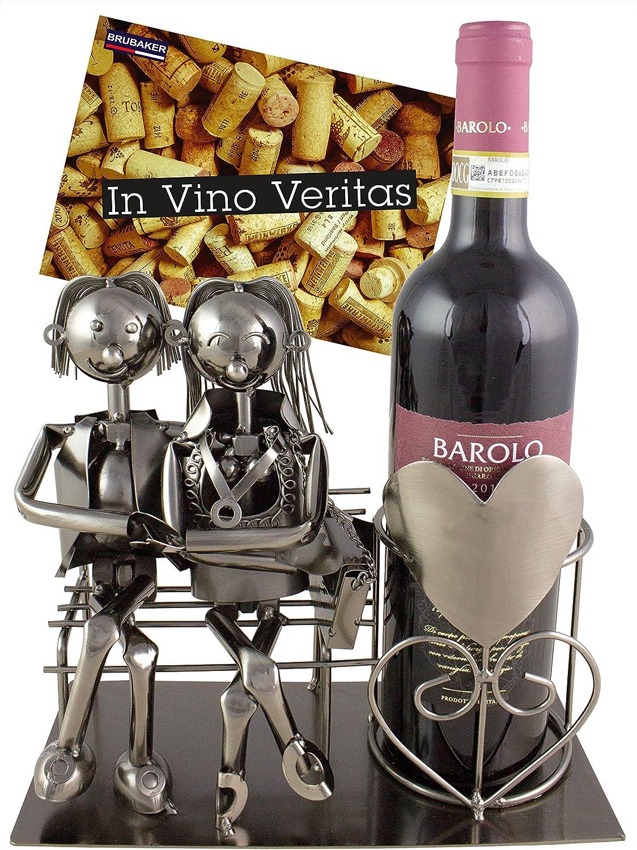 BRUBAKER Escultura Soporte para Botellas de Vino Soporte de Exhibición Una Pareja Amorosa