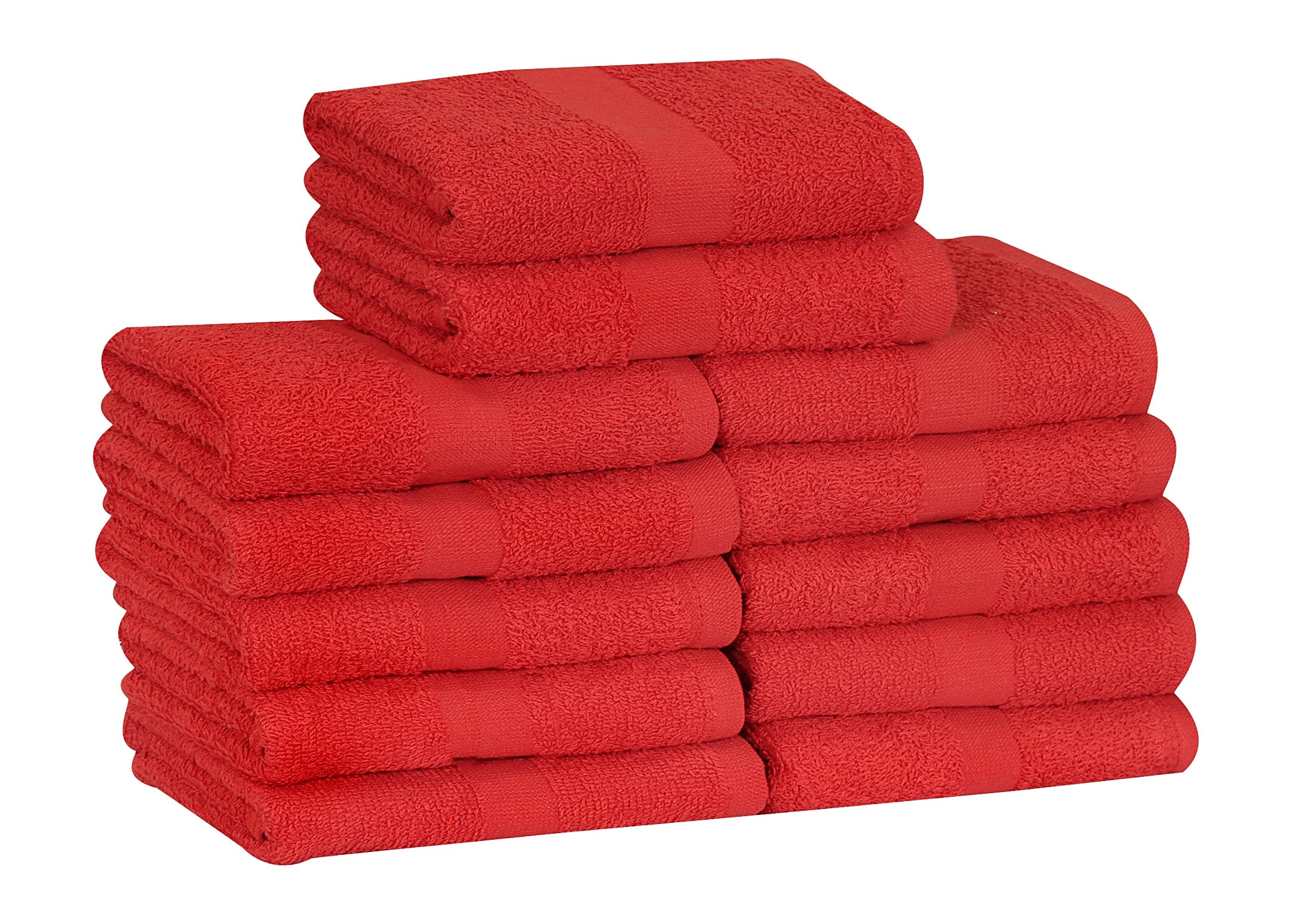 GOLD TEXTILES Cotton Salon Towels (12-Pack,Red,16x27 inches) - Soft Absorbent Quick Dry Gym-Salon-Spa Hand Towel (Red)