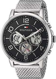 067fb1f10a918 Tommy Hilfiger Men's Quartz Stainless Steel Watch, Color:Silver-Toned  (Model: