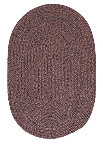 Hayward Oval Area Rug, 4 by 6-Feet, Plum