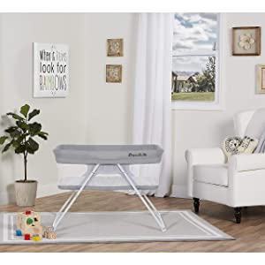 Dream On Me Meghan Portable Bassinet, Grey