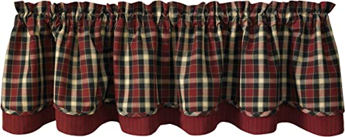 Park Designs Concord Lined Layer Valance, 72 x 16
