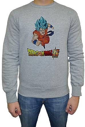 Dragon Ball Super Goku Hombre Sudadera Jersey Pullover Gris Todos Los Tamaños | Mens Sweatshirt Jumper