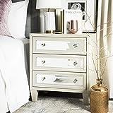 Safavieh Home Marlon Grey Mirrored 3-drawer Chest