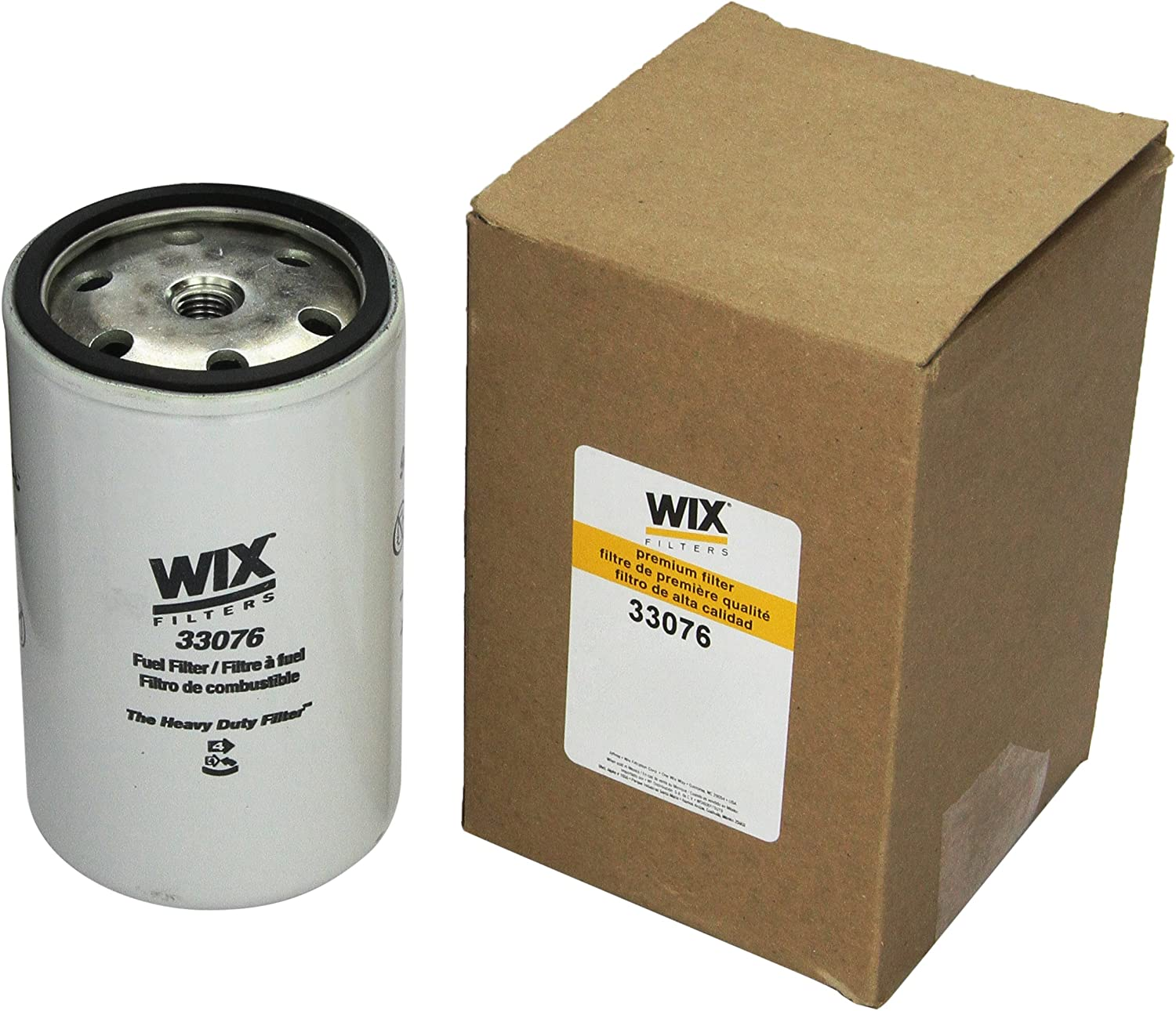 WIX Filters Pack of 1 33109 Heavy Duty Spin-On Fuel Filter