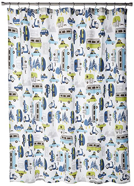 INK IVY Road Trip Kids Shower Curtain 72quot X