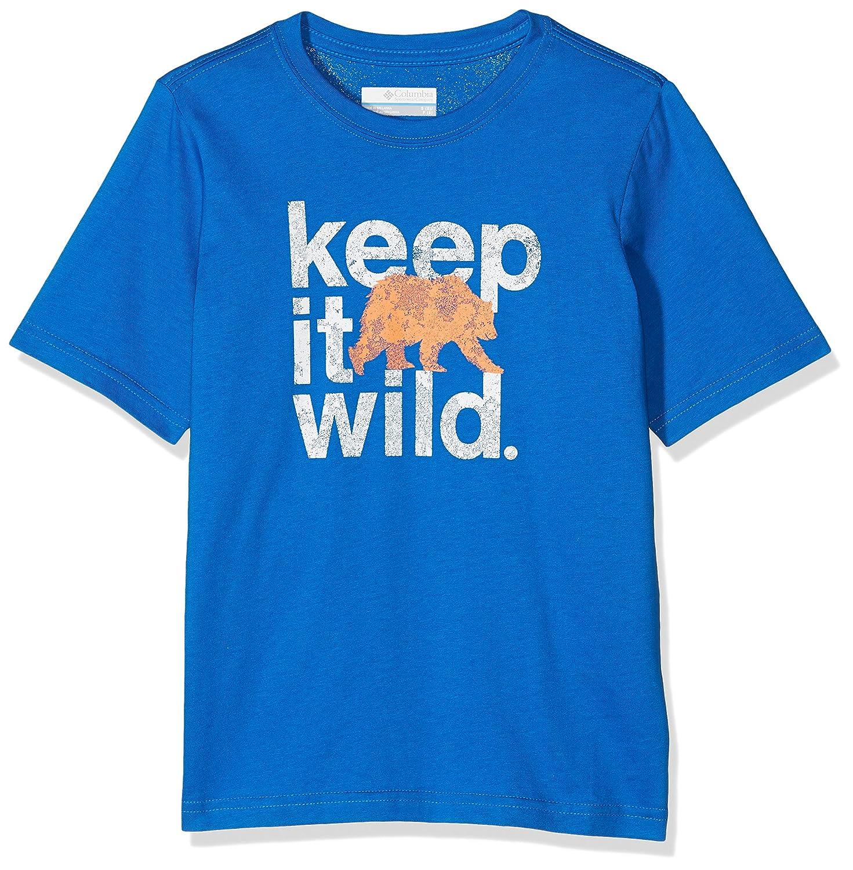 Baumwolle Outdoor Elements Short Sleeve Shirt Columbia Kurz/ärmliges Shirt f/ür Jungen