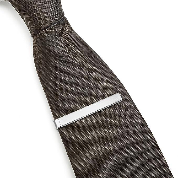 Puentes Denver Juego de 3 clips de corbata para corbatas, 4 cm ...
