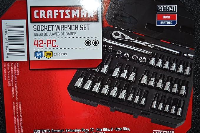Craftsman 42 piece Drive Bit and Torx Bit Socket Wrench Set with Polished Ratchet