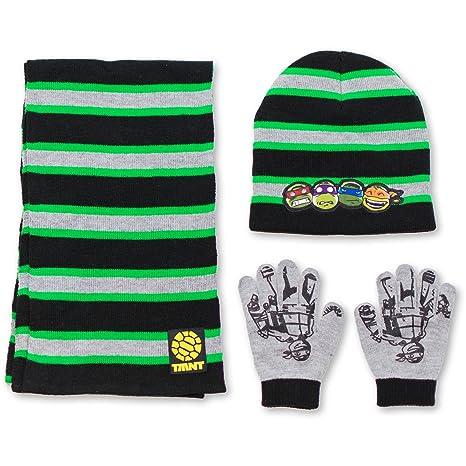 0c0b26ad6 Teenage Mutant Ninja Turtles TMNT Boys Winter 3pc Set Hat Gloves and Scarf