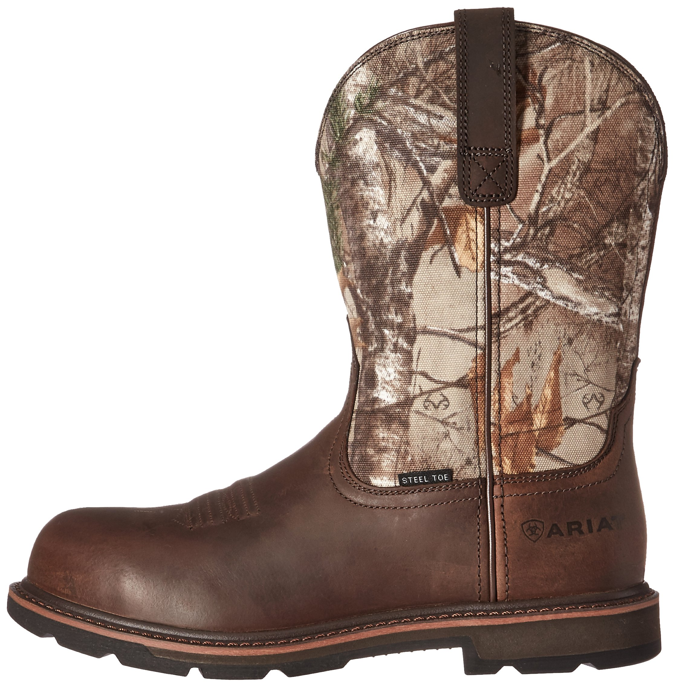 Ariat Work Men's Groundbreaker Pull-On Steel Toe Work Boot, Brown/Real Tree Extra, 7 D US by Ariat (Image #5)