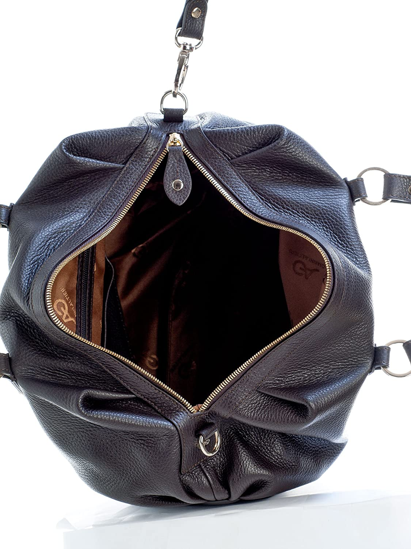 c57daf5cb319 Elizabetta Handmade Luxury Italian Leather Large Bowler Handbag ...