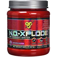 BSN N.O.-Xplode Pre Workout Powder with Creatine Monohydrate, Beta Alanine, Caffeine, Vitamin D & Vitamin B Complex by BSN - Watermelon, 30 Servings, 600g