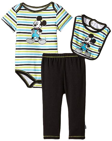 Amazon.com: Disney - Conjunto de babero y pantalón para bebé ...
