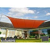 Tenda a Vela Kookaburra per Feste resistente all'acqua - Rettangolare 4m x 3m – Terracotta