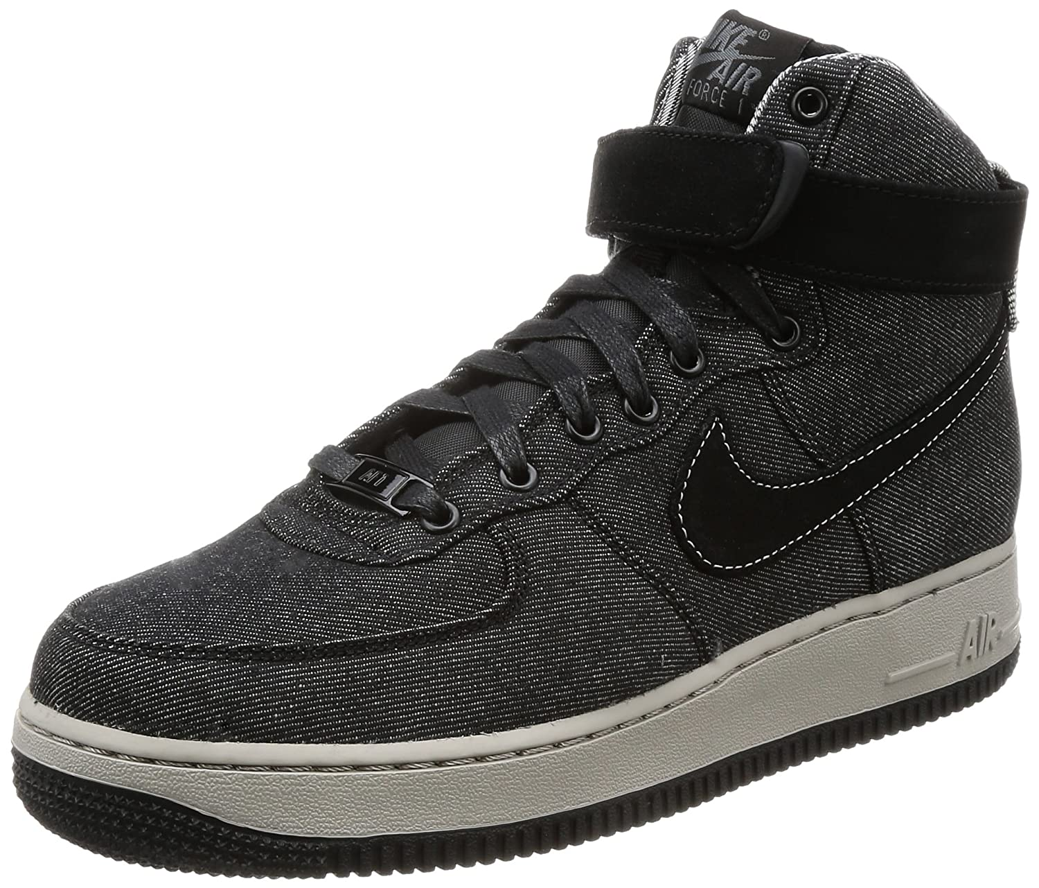 best service b3dc0 0879e Amazon.com   Nike WMNS AIR Force 1 HI SE Womens Fashion-Sneakers 860544-003 11.5  - Black Dark Grey-Cobblestone   Fashion Sneakers