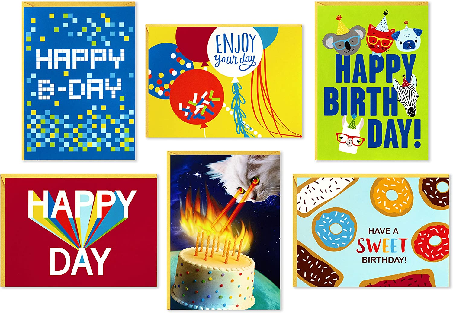 Hallmark Birthday Cards All items Fashion in the store Assortment with 36 Cat Envelopes