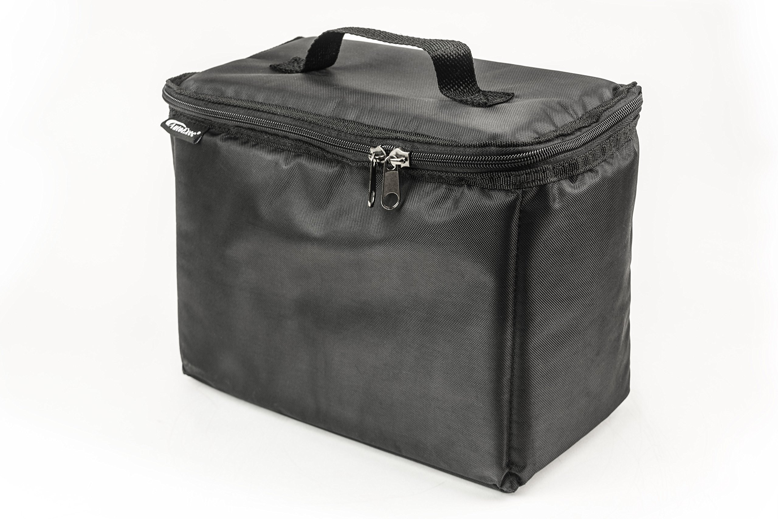 AutoExec AETote-08 Black/Grey File Tote with One Cooler and One Hanging File Holder by AutoExec (Image #2)