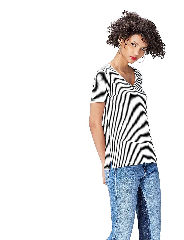 FIND T-Shirt Scollo a V Donna 18132