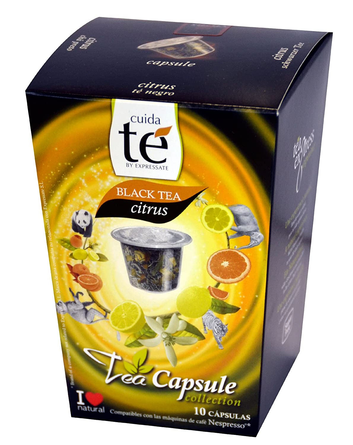 Amazon.com : 30 Nespresso Compatible Pods - Origen Tea, Black Citrus Tea, 3 Boxes - 10 Pods per box : Coffee Brewing Machine Capsules : Grocery & Gourmet ...