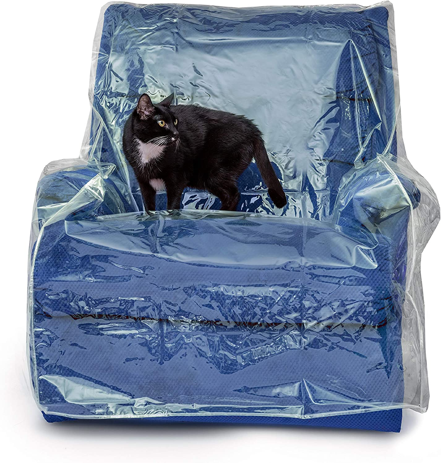 Besti Plastic Recliner Armchair Cover for Pets - Chair Protection from Dog and Cat Pee, Fur, Hair, Bite, Scratch - Heavy-Duty Thick Clear Furniture Cushion Slipcover - Waterproof Vinyl Seat Protector