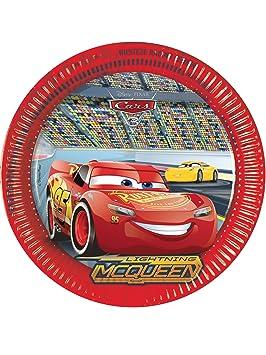 8 Platos de cartón Cars 3 23 cm: Amazon.es: Juguetes y juegos