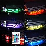 """VINCORP Le ventilateur d'origine USB Design """"Multicolor RGB"""" LED 19cm Ventilateur et support pour PS4 Playstation 4 Pro Slim PS3 3"""