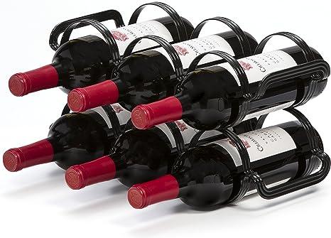 Best Cabinet Mango Steam Countertop Wine Rack 6 Bottles