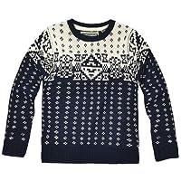 Boys Knitted Aztec Winter Jumper New Kids Christmas Knitwear