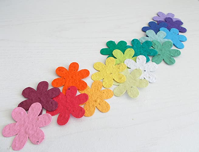 Amazon seed paper confetti flowers 15 flowers embedded with seed paper confetti flowers 15quot flowers embedded with flower seeds mightylinksfo