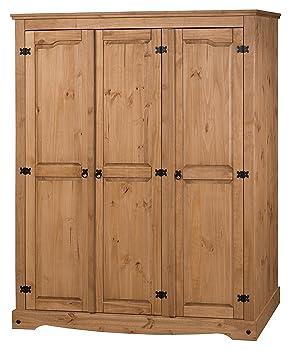 Mercers Furniture Corona 3 Door Flat Top Wardrobe