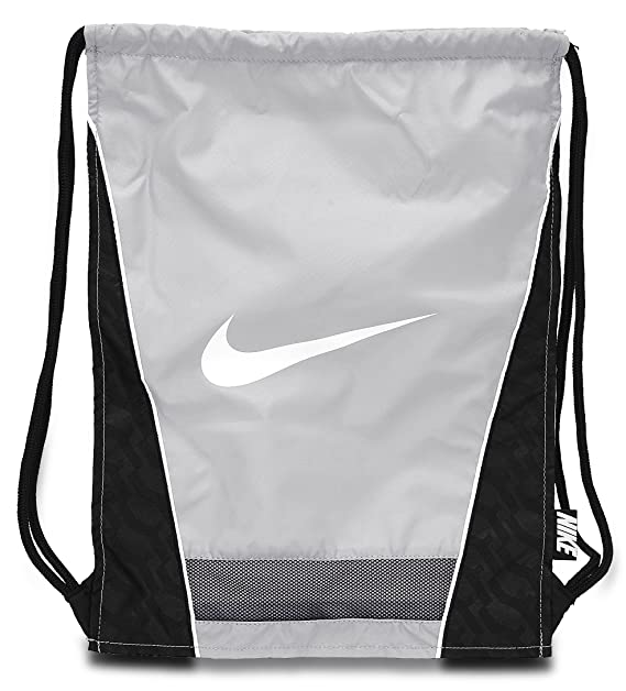7f04d12e243e Amazon.com  Nike Brasilia 6 Gym Sack (Flint Grey)  Sports   Outdoors
