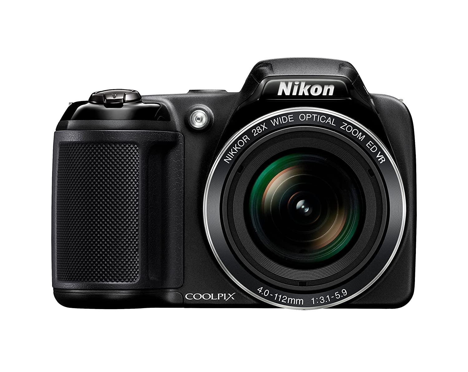 Nikon Coolpix L340 Camera - Black (20 MP, 28x Optical Zoom) 3-Inch LCD (Certified Refurbished)