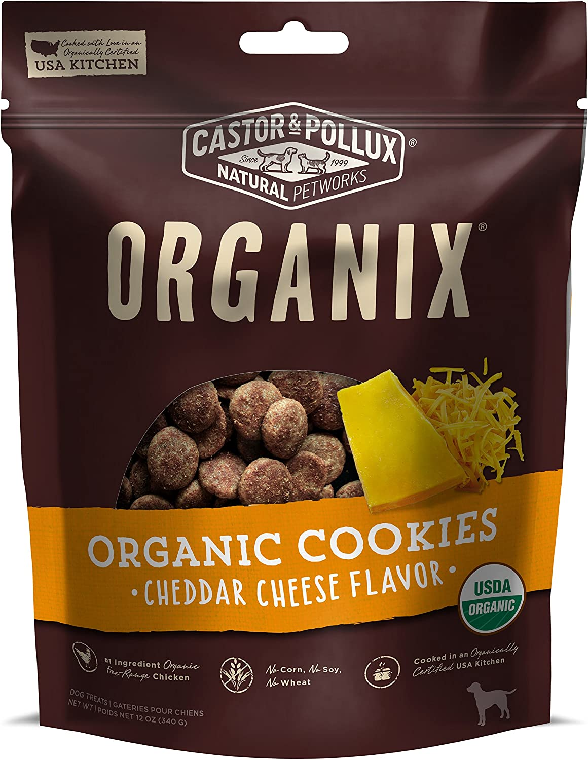 Castor & Pollux Organic Dog Cookies Crafted in The USA