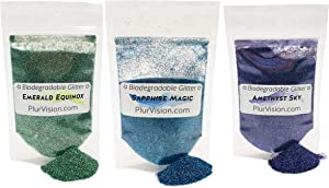 Dazzling Gem Collection - Made from Plant Cellulose, Environmentally Friendly. Perfect for Body, Cosmetics, Crafts, DIY Projects and More. Can be Mixed with Lotions, Gels, Oils, Face Paint and More.