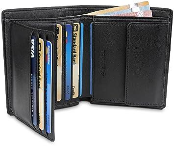 084d4762e43e49 TRAVANDO ® Geldbeutel Männer Vancouver RFID Geldbörse Herren schwarz  Portemonnaie Portmonaise Geldtasche groß Brieftasche Hochformat  Herrengeldbeutel