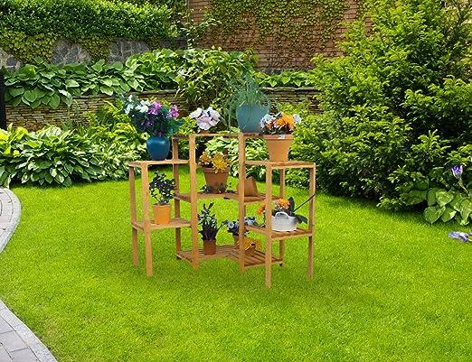 Flores Escaleras esquineras estante 85 x 85 x 88 cm madera ...