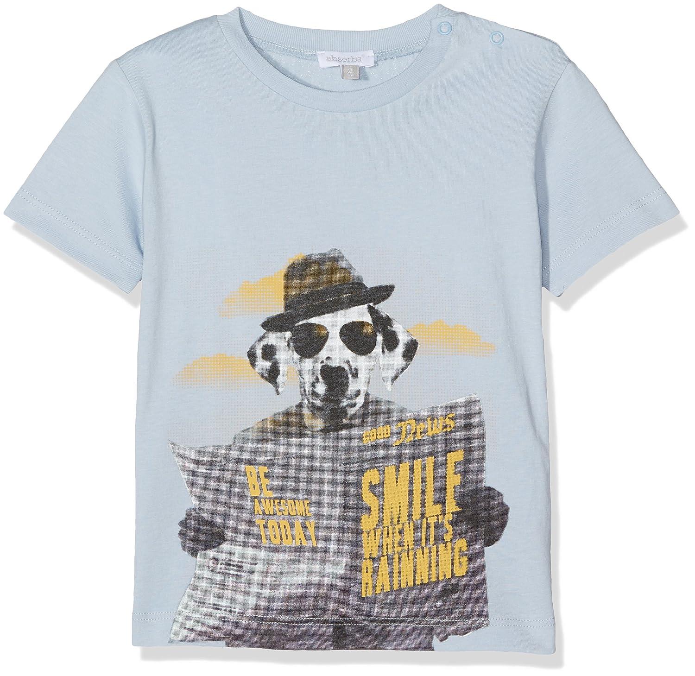 Absorba Basic Mkg, T-Shirt Bébé Garçon Absorba Boutique Basic Mkg T-Shirt Bébé garçon 0-24m (Bleu Grisé) 9J10005