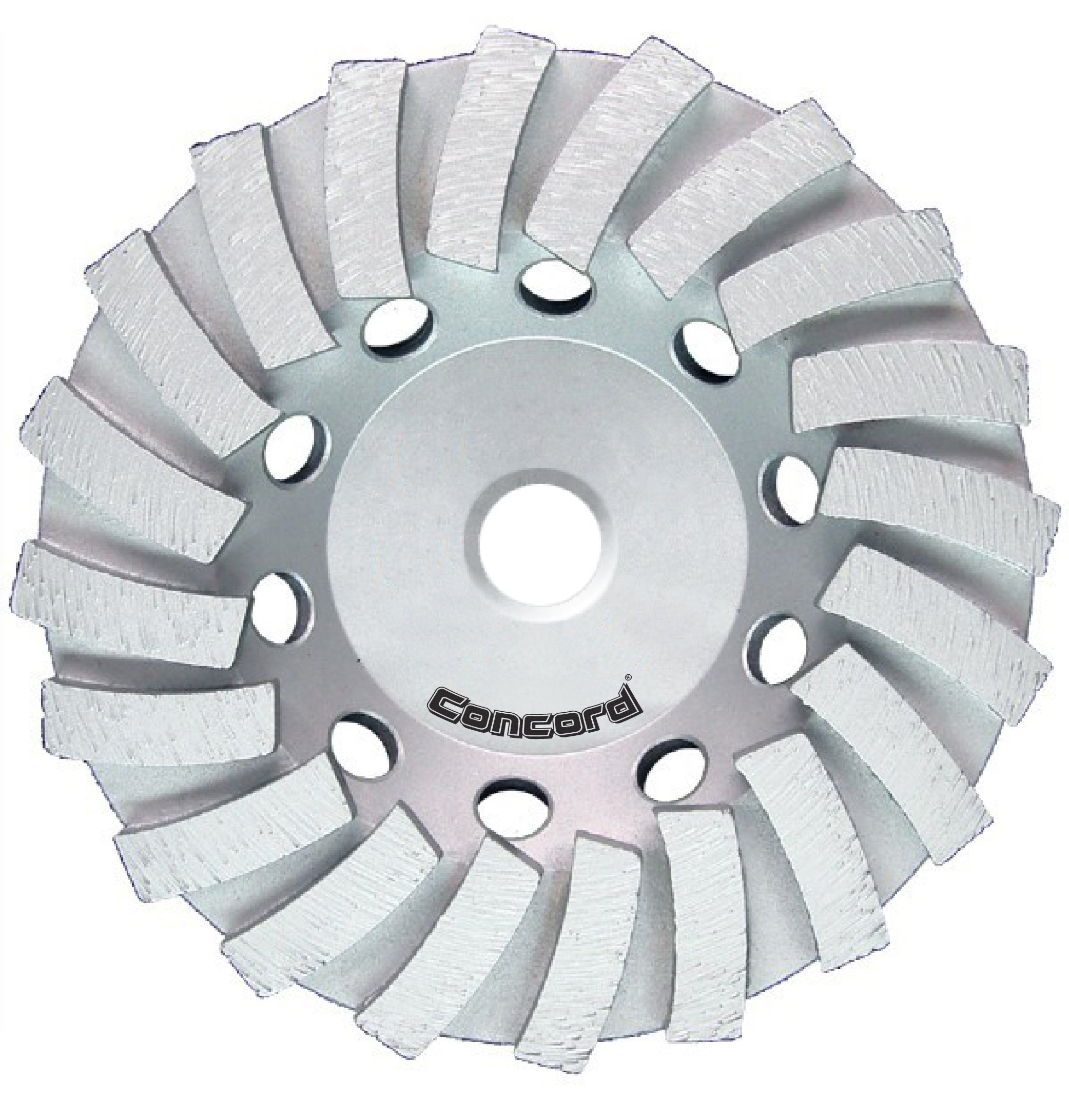 Concord Blades GCL045FCP 4.5 Inch Swirl Turbo Diamond Cup Wheel with 5/8''-11 Thread by Concord Blades