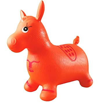 famous brand shop best place Buy Orange Horse Hopper, Pump Included (Inflatable Space ...