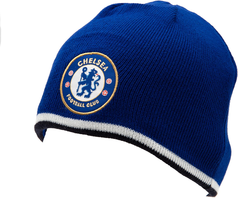 Chelsea F.C. – Gorro tejido Reversible, azul Real/Negro – Talla única: Amazon.es: Deportes y aire libre