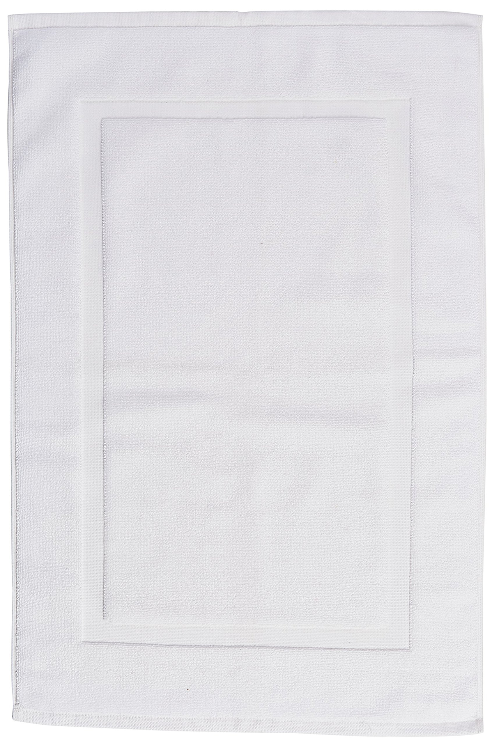 AmazonBasics Banded Bath Mat, 20 x 31 inch, White,4-Pack