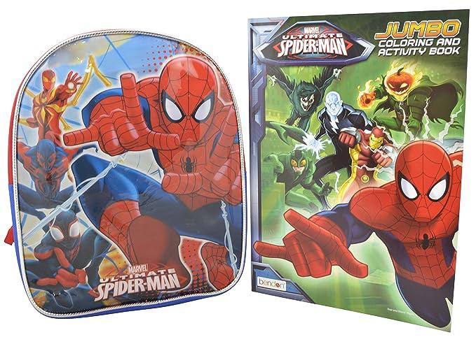 Marvel Spiderman Set Of 10 Toddler Backpack Spiderman Coloring