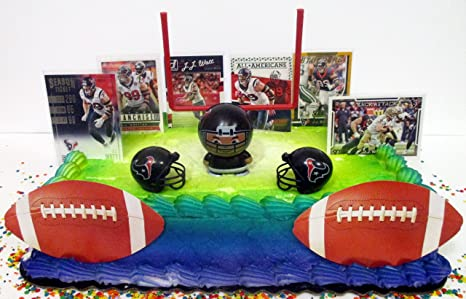 Image Unavailable Not Available For Color HOUSTON TEXANS Team Themed Football Birthday Cake Topper