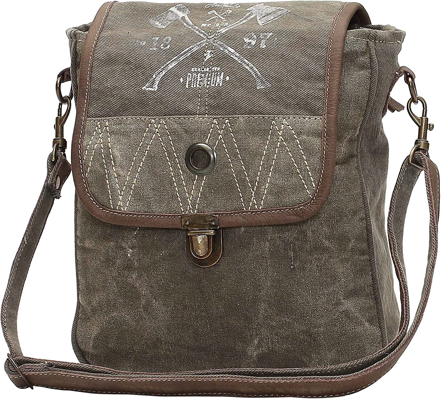 Amazon Com Myra Bags 1897 Upcycled Canvas Crossbody Bag S 1050 Tan Khaki Brown One Size Welcome to myra bags, we wish you many years of success retailing with our exceptional line of fine. myra bags 1897 upcycled canvas crossbody bag s 1050 tan khaki brown one size