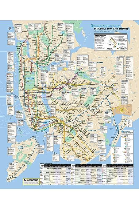 Amazon.com: History Prints NYC Subway Map 2010; New York City ...
